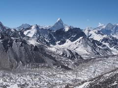 Stock Photo of Ama Dablam and the Khumbu Glacier, Everest Region, Nepal