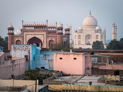 The Taj Mahal in Agra, India Stock Photos