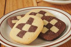Shortbread cookies closeup Stock Photos