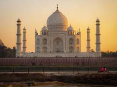 Taj Mahal at Sunset, Agra, india Stock Photos