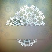 Stock Illustration of Christmas snowflake applique. + EPS10