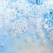 Winter background with triangle texture. + EPS10 Stock Illustration