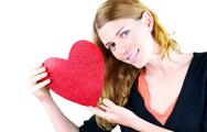 Stock Photo of holding a heart