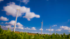 Front view of Wind turbine Stock Footage