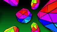 Stock Video Footage of Rainbow shapes 4K loopable Background
