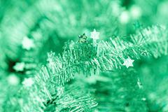 Tinsel. Christmas decoration. Stock Photos
