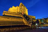 Stock Photo of chedi luang temple in chiang mai,thailand