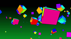 Rainbow shapes 4K loopable Background Stock Footage