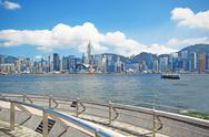 Stock Photo of China, Hong Kong waterfront buildings