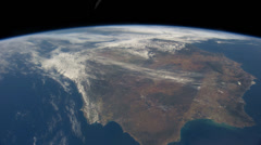 4K UHD International Space Station Over Western Europe and Western Africa - stock footage