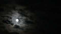 Moon in clouds Stock Footage