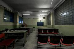 Hylätty kokoustiloissa koulu Kuvituskuvat