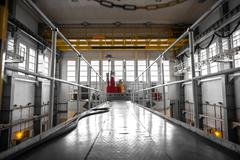 Nuclear reactor in a science institute - stock photo
