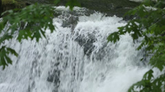 Whatcom Falls Detail, Bellingham Stock Footage