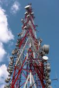 Stock Photo of Large Communication tower against sky