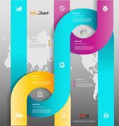 Stylized presentation,option template Stock Illustration