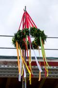 Roofing ceremony wreth Stock Photos