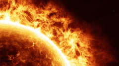 HD - Sun surface with solar flares. Close-up Stock Footage