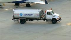 Jet Fuel Truck Stock Footage
