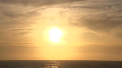 Sun over Pacific Ocean Real Time - stock footage