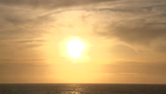 Stock Video Footage of Sun over Pacific Ocean Real Time
