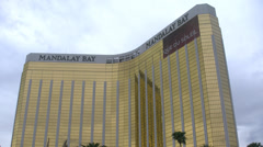 Mandalay Bay Hotel Las Vegas with tilt down 4K Stock Footage