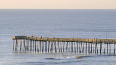 Virginia Beach fishing pier Stock Footage