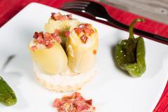 Stuffed artichokes - stock photo