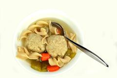Matzo ball soup - stock photo