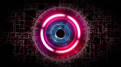 futuristic drone security scanner animation - stock footage