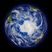 Southern hemisphere on planet Earth - stock photo