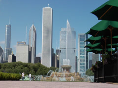 BUCKINGHAM FOUNTAIN CHICAGO Stock Footage