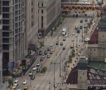 CITY STREET TIME LAPSE CHICAGO Stock Footage