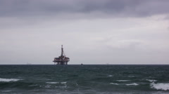 Offshore Oil Rig Time Lapse Video Stock Footage