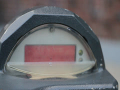 PARKING METER FLASHING EXPIRED Stock Footage