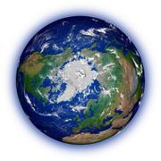 Northern hemisphere on white - stock photo
