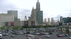 Las Vegas Strip Daytime pan from MGM Grand to City Center Stock Footage