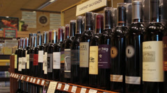 Wine and Spirits Stock Footage