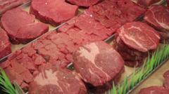 Choice Cuts of Beef - stock footage