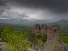 Bulgarian wonders - a beautiful view - phenomenon of Belogradchik rocks Stock Photos