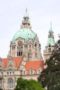 Detail of the New Town Hall in Hanover, Germany - stock photo