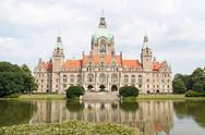 Stock Photo of Landscape of the New Town Hall in Hanover, Germany