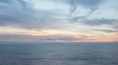 Dramatic Beach Sunset Time Lapse Video Stock Footage