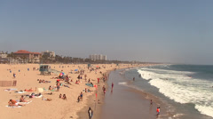 Santa Monica California Beach - stock footage