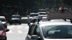 SAO PAULO, BRAZIL: Traffic in the city. Sao Paulo, Brazil Stock Footage
