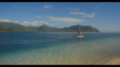 Sand bar kaneohe bay, oahu, hawaii. Stock Footage