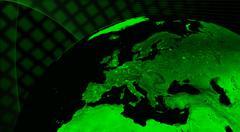 Europe technology concept Stock Photos