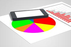 Graphs and statistics Stock Photos