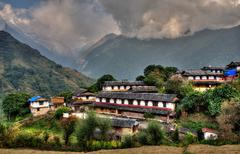 Stock Photo of Ghandruk village in the Annapurna region, Nepal