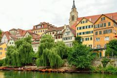 View of the old town of Tuebingen, Germany - stock photo